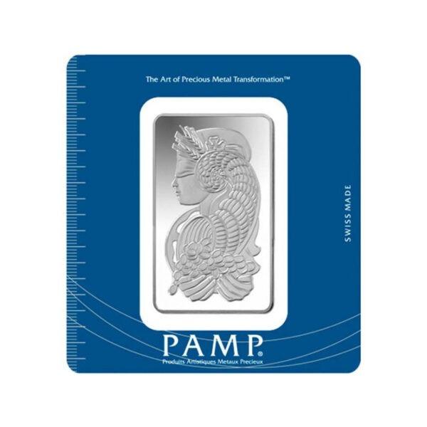 Zlatna poluga 100 grama PAMP, prednja strana