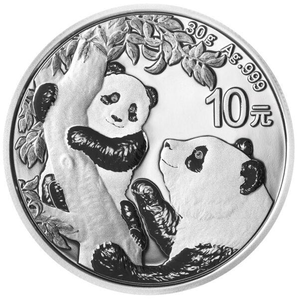Srebrnjak Kineski panda 30 grama, prednja strana