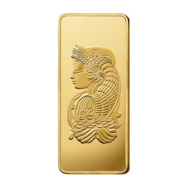 Zlatna poluga 1000 grama PAMP, stražnja strana Fortuna