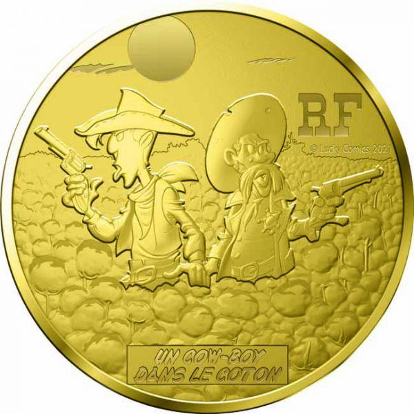 Zlatnik Talicni Tom (Lucky Luke), stražnja strana
