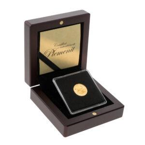 Zlatnik American Eagle od jedne desetine unce u drvenoj poklon kutiji, prednja strana