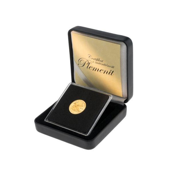 Zlatnik American Eagle (Američki orao) od jedne desetine unce u poklon kutiji od umjetne kože, prednja strana