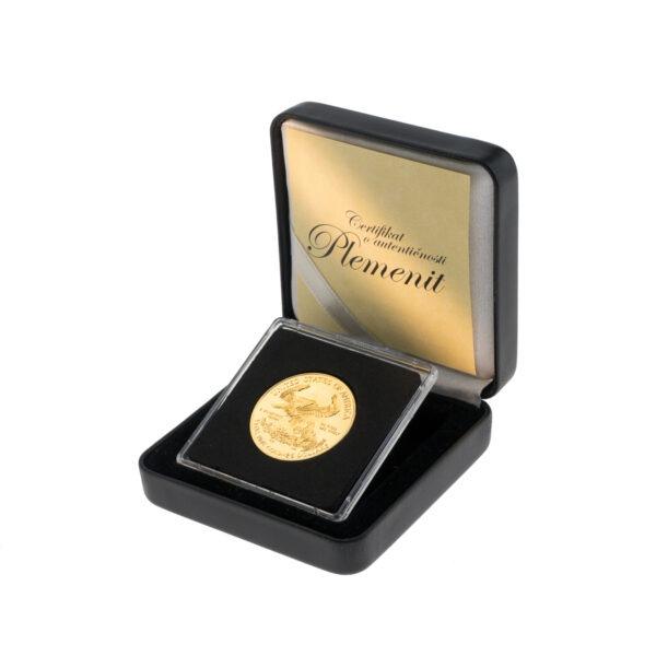 Zlatnik American Eagle (Američki orao) od pola unce u poklon kutiji od umjetne kože, stražnja strana