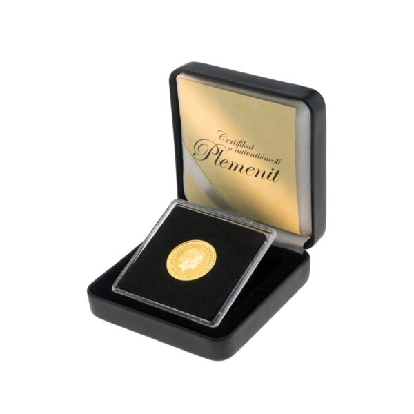 Zlatnik Australian Kangaroo od četvrtine unce u poklon kutiji od umjetne kože, stražnja strana