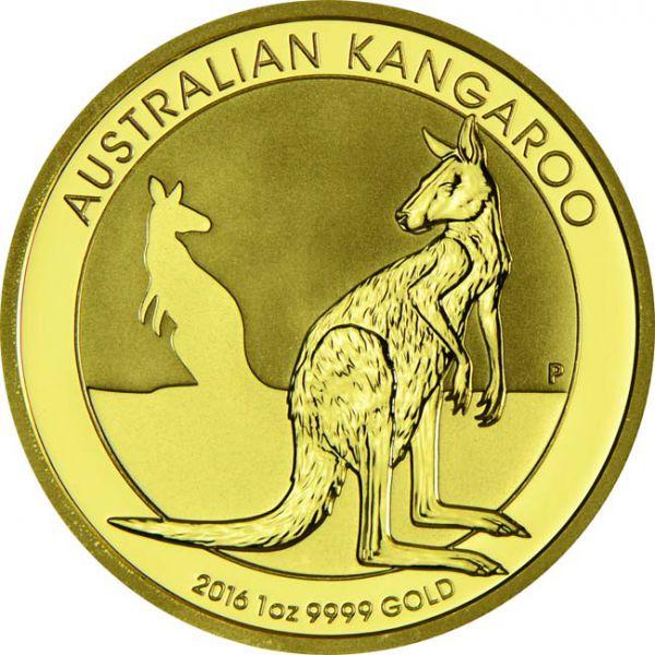 Zlatnik Klokan Kangaroo 1 unca (31,103 grama) godina 2016, prednja strana