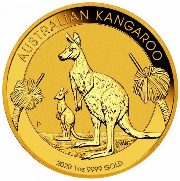Zlatnik Klokan Kangaroo 1 unca (31,103 grama) godina 2020, prednja strana