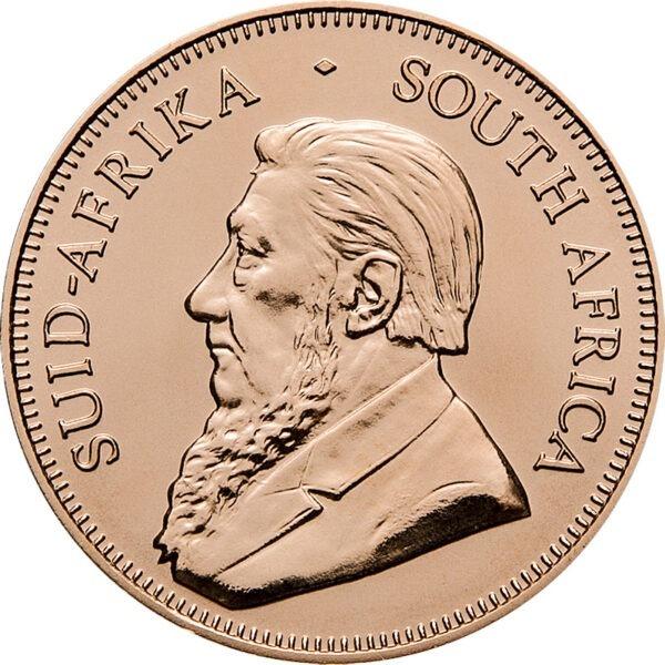 Zlatnik Krugerrand 1 unca čiste mase zlata,prednja strana