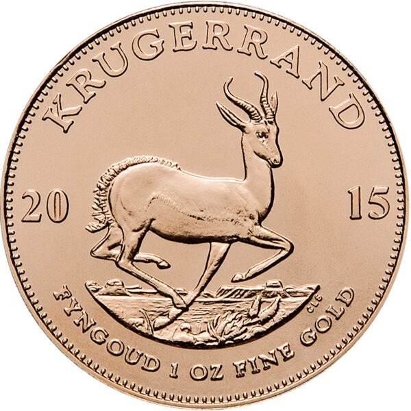 Zlatnik Krugerrand Springnbok jedna unca čiste mase zlata (31,103 grama), stražnja strana
