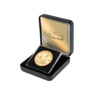Zlatnik Krugerrand 1 unca u poklon kutiji od umjetne kože, prednja strana