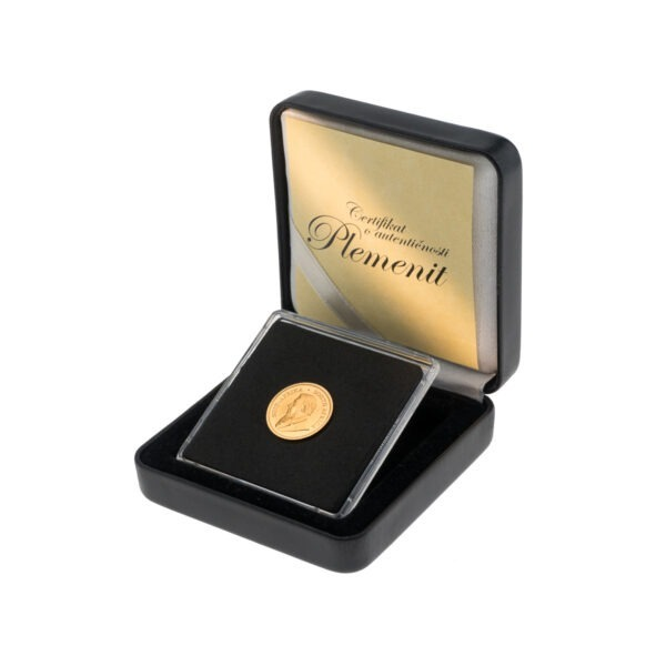 Zlatnik Krugerrand od jedne desetine unce u poklon kutiji od umjetne kože, stražnja strana
