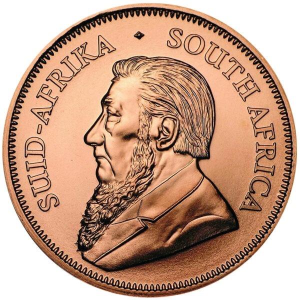 Zlatnik Krugerrand pola unce čistog zlata (15,55 grama) prednja strana