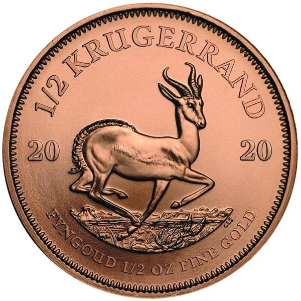 Zlatnik Krugerrand pola unce čistog zlata (15,55 grama) stražnja strana