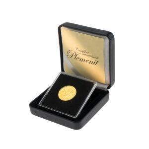 Zlatnik Maple Leaf (Javorov list) u poklon kutiji od umjetne kože, prednja strana