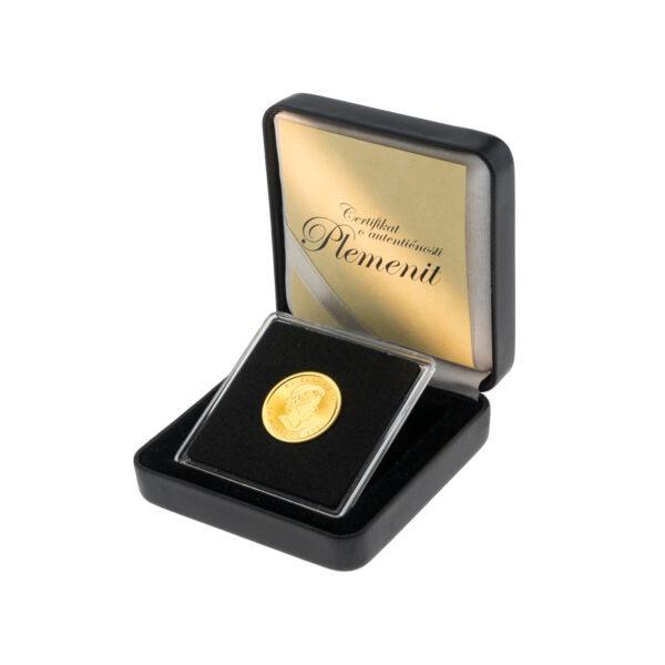 Zlatnik Maple Leaf (Javorov list) u poklon kutiji od umjetne kože, stražnja strana