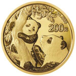 Zlatnik Kineski panda 15 grama, prednja strana