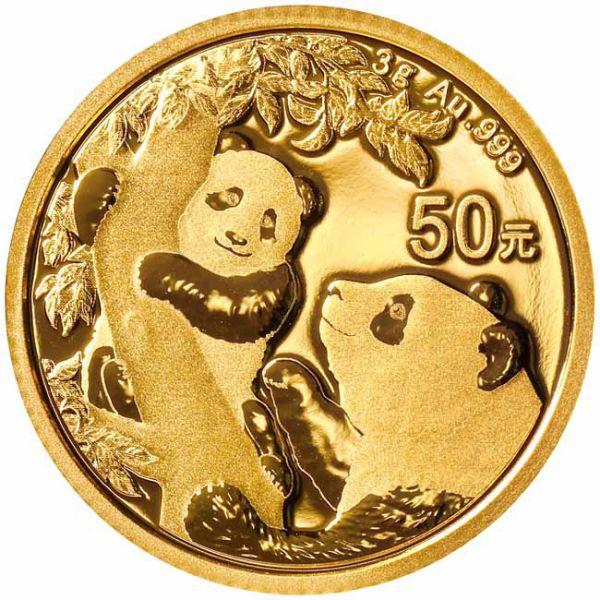 Zlatnik Kineski panda 3 grama, prednja strana