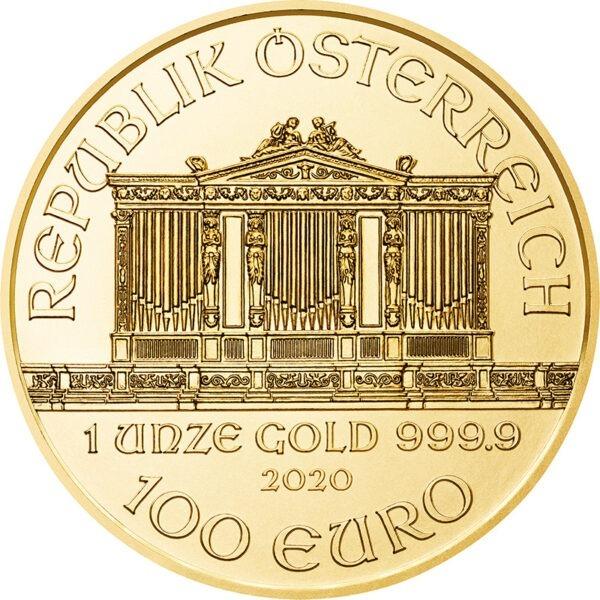 Zlatnik Wiener Philharmoniker 1 unca (31,103 grama)