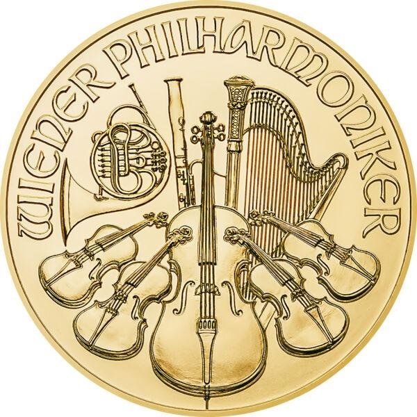 Zlatnik Wiener Philharmoniker desetina unce 1/10 oz (3,11 grama)