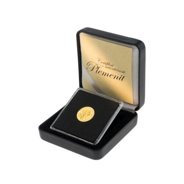 Zlatnik Wiener Philharmoniker od jedne desetine unce u poklon kutiji od umjetne kože, stražnja strana