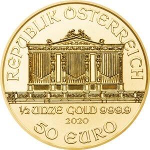 Zlatnik Wiener Philharmoniker 1/2 (pola) unce (15,55 grama)