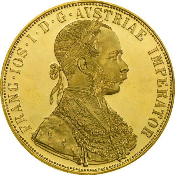 Četvorostruki veliki dukat Franjo Josip Franc Ios (13,96 grama)