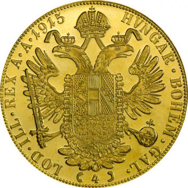 Četvorostruki dukat Franc Ios Franjo Josip 1915 (13,96 grama)