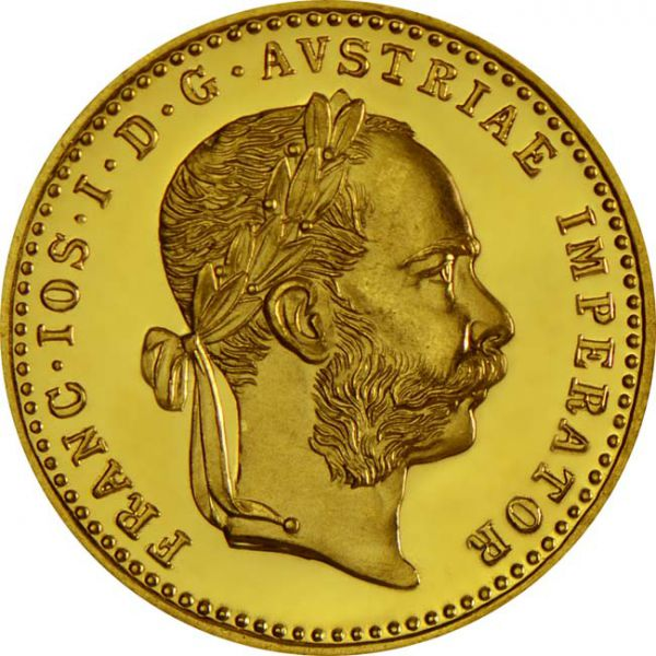 Jednostruki dukat mali dukat Franjo Josip Franc Ios3,49 grama