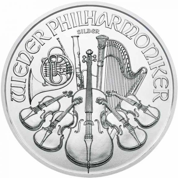 Srebrnjak 1 unca (31,103 grama) Wiener Philharmoniker, stražnja strana