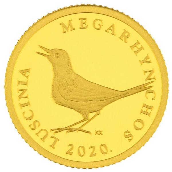 Zlatna kuna, hrvatski zlatnik, godina izdanja 2020, stražnja strana