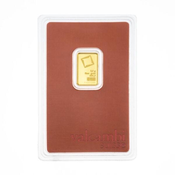 Zlatna poluga 2,5 grama Valcambi, stražnja strana