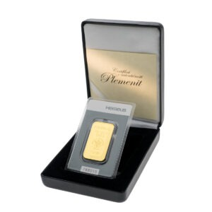 Zlatna poluga 1 unca Heraeus u poklon kutiji od umjetne kože