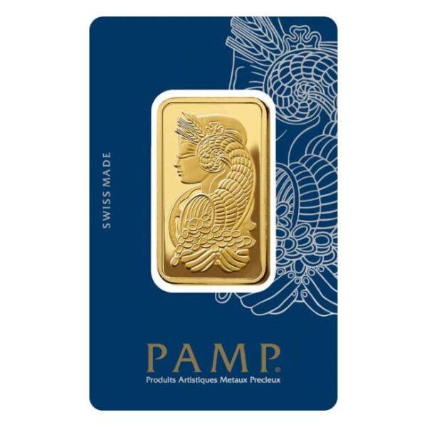 Zlatna poluga 1 unca (31,103 grama) PAMP stražnja strana