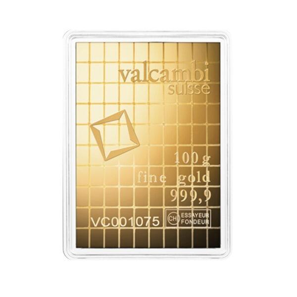 Zlatna poluga 100 grama Valcambi Combibar