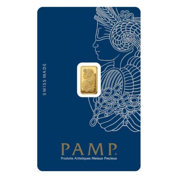 Zlatna poluga 1 gram PAMP stražnja strana
