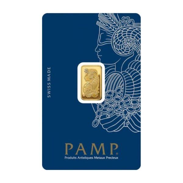 Zlatna poluga 2,5 grama PAMP prednja strana