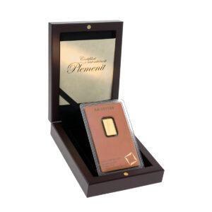 Zlatna poluga 2 i pol grama Valcamni u drvenoj kutiji