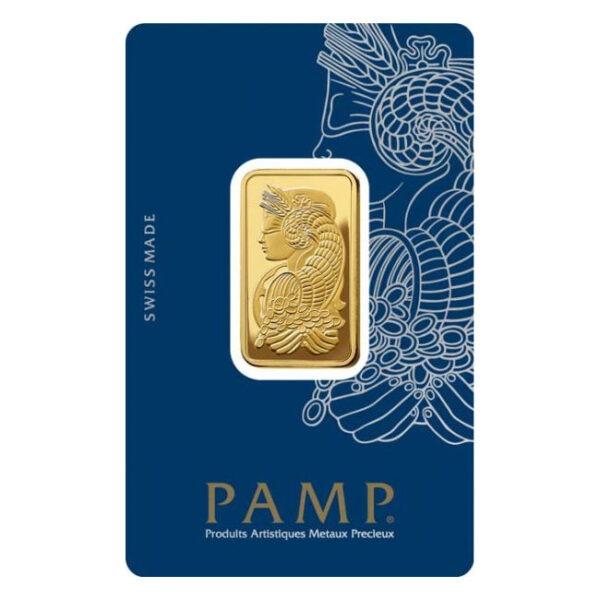 Zlatna poluga 20 grama PAMP prednja strana
