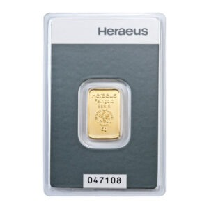 Zlatna poluga 5 grama Heraeus prednja strana