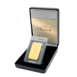 Zlatna poluga 50 grama Heraeus u poklon kutiji od umjetne kože