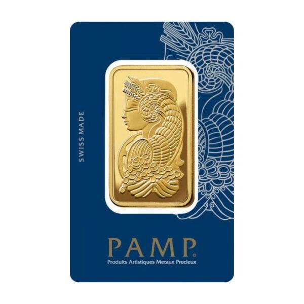 Zlatna poluga 50 grama PAMP prednja strana