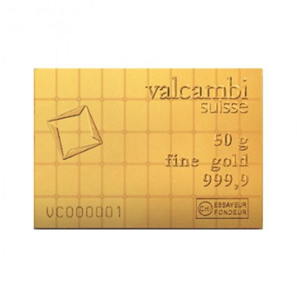 Zlatna poluga 50 x 1 gram Valcambi Combibar