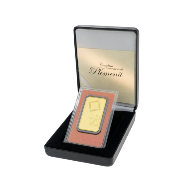 Zlatna poluga 50 grama Valcambi u poklon kutiji od umjetne kože