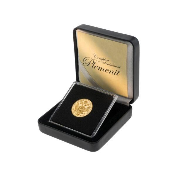 Zlatni dukat (jednostruki) Franc Ios u kutiji od umjetne kože, stražnja strana