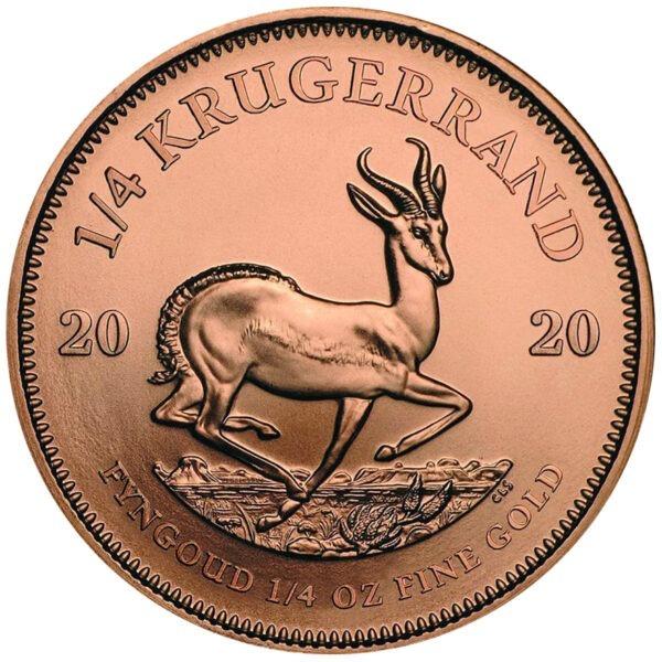 Zlatnik Krugerrand Springbok četvrtina (1/4) unce čistog zlata, stražnja strana