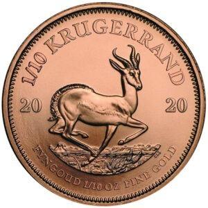 Zlatnik Krugerrand Springbok jedna desetina (1/10) unce, stražnja strana