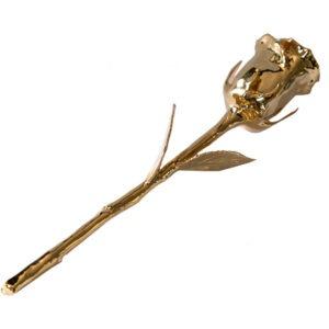 Ruža pozlaćena 24 karatnim zlatom