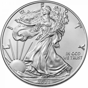Srebrnjak Američki orao (American Eagle) mase 1 unce, prednja strana