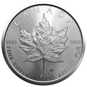 Srebrnjak Javorov list (Maple Leaf) masa jedne unce, prednja strana
