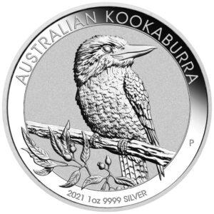 Srebrnjak Kookaburra 1 unca, prednja strana