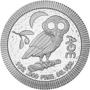 """Srebrnjak """"Sova"""" 1 unca 2021, prednja strana"""
